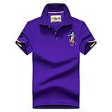 Разные цвета Мужская футболка поло хлопок премиум в стиле ральф лорен, фото 9