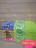 Полотенце банное махровое размер 70*140 листики микс