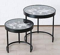 Комплект кофейных столов Мondo с часами металл D43, D53