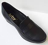 Туфли женские большого размера из натуральной кожи от производителя модель АР550В, фото 2
