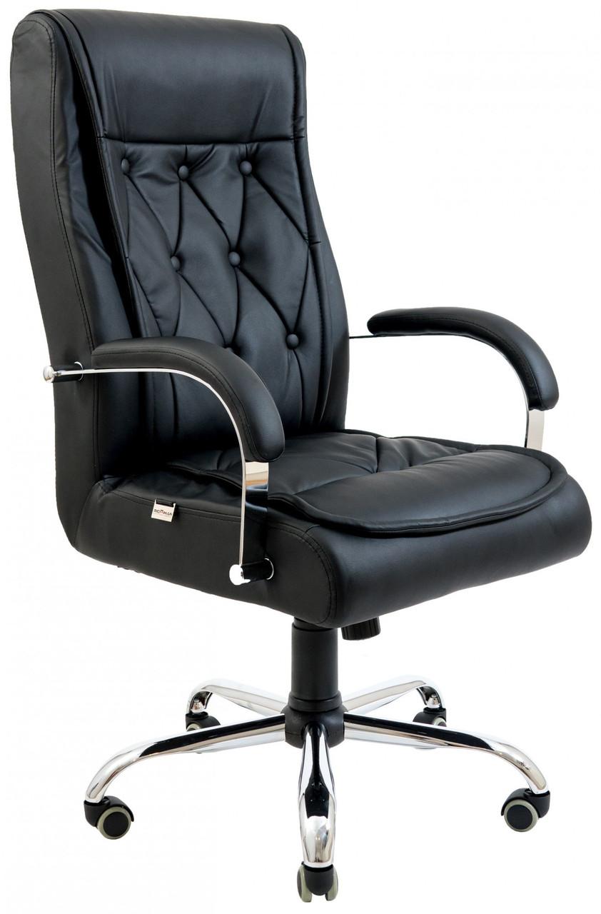 Офисное Кресло Руководителя Richman Телави Титан Black Хром М2 AnyFix Черное
