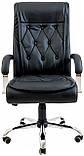 Офисное Кресло Руководителя Richman Телави Титан Black Хром М2 AnyFix Черное, фото 2