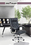 Офисное Кресло Руководителя Richman Телави Титан Black Хром М2 AnyFix Черное, фото 6
