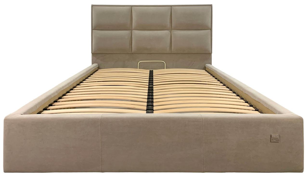 Ліжко Двоспальне Richman Шеффілд 2 Vip 160 х 190 см З додатковою металевою рамою суцільнозварний
