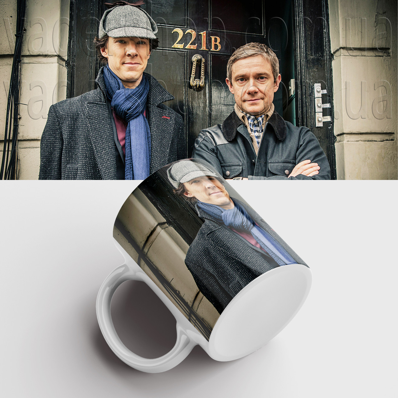 Чашка Шерлок. Sherlock. Кружка з принтом серіал Шерлок. Бенедикт Камбербетч