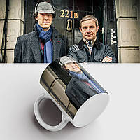 Чашка Шерлок. Sherlock. Кружка з принтом серіал Шерлок. Бенедикт Камбербетч, фото 1