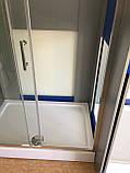 Душевая кабина Dusel А-515, 120х80х190, дверь раздвижная, стекло прозрачное, фото 9