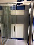 Душевая кабина Dusel А-515, 120х80х190, дверь раздвижная, стекло прозрачное, фото 10