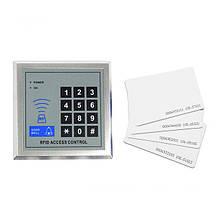 Система контроля доступа, панель RFID с клавиатурой + 10 карт