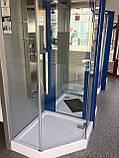 Душевая кабина Dusel А-715, 100х100х190, пятиугольная, стекло прозрачное, фото 8