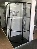 Кабина душевая пятиугольная Dusel DL197HBP Black Matt Paint, 90х90х190, профиль черный, стекло прозрачное, фото 4