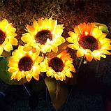 """Светодиодный фонарь садовый  """"Подсолнух"""" на солнечных батареях, фото 5"""