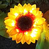"""Светодиодный фонарь садовый  """"Подсолнух"""" на солнечных батареях, фото 7"""