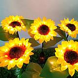"""Светодиодный фонарь садовый  """"Подсолнух"""" на солнечных батареях, фото 8"""
