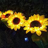 """Светодиодный фонарь садовый  """"Подсолнух"""" на солнечных батареях, фото 3"""