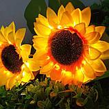 """Светодиодный фонарь садовый  """"Подсолнух"""" на солнечных батареях, фото 2"""