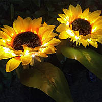 """Светодиодный фонарь садовый """"Подсолнух"""" на солнечных батареях"""