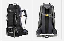 Рюкзак туристический 60 литров, черный