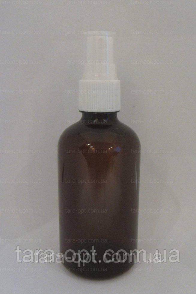 Флакон коричневий зі спреєм 100 мл розпилювач