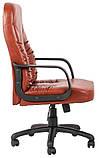 Офисное Кресло Руководителя Richman Техас Мадрас Cognac Пластик М2 AnyFix Коричневое, фото 4