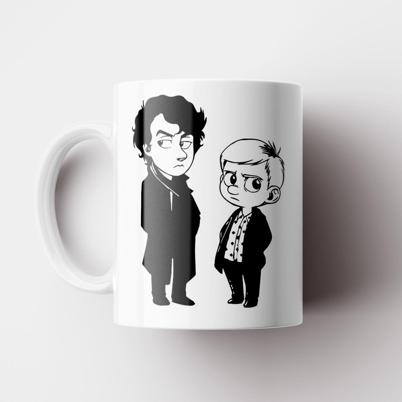 Чашка Шерлок. Sherlock. Кружка с принтом сериал Шерлок. Бенедикт Камбербетч