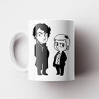 Чашка Шерлок. Sherlock. Кружка с принтом сериал Шерлок. Бенедикт Камбербетч, фото 1