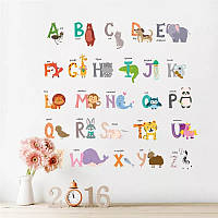 """Виниловые наклейки на стену в детскую, в детский сад """"Английский алфавит"""" """"Англійська абетка"""" (лист 30*90см)"""