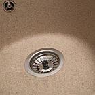 Кухонна мийка гранітна Eva (Ø475*175) Piesok (301) ТМ Galati, фото 3