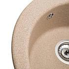Кухонна мийка гранітна Eva (Ø475*175) Piesok (301) ТМ Galati, фото 4