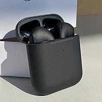 Наушники беспроводные в дизайне AirPods 2, 1:1. Чип Rhoda. Черные. Чехол в подарок