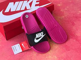 Сланцы/шлепки Nike женские(черно-розовые), фото 3