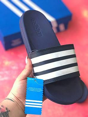 Сланцы/шлепки Adidas /шлепанцы/ адидас/темно-синие, фото 2