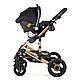 Универсальная детская коляска трансформер Ninos Freelander grey  3 в 1, фото 10