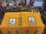Хоругва замш. православная желтая для храма, фото 2