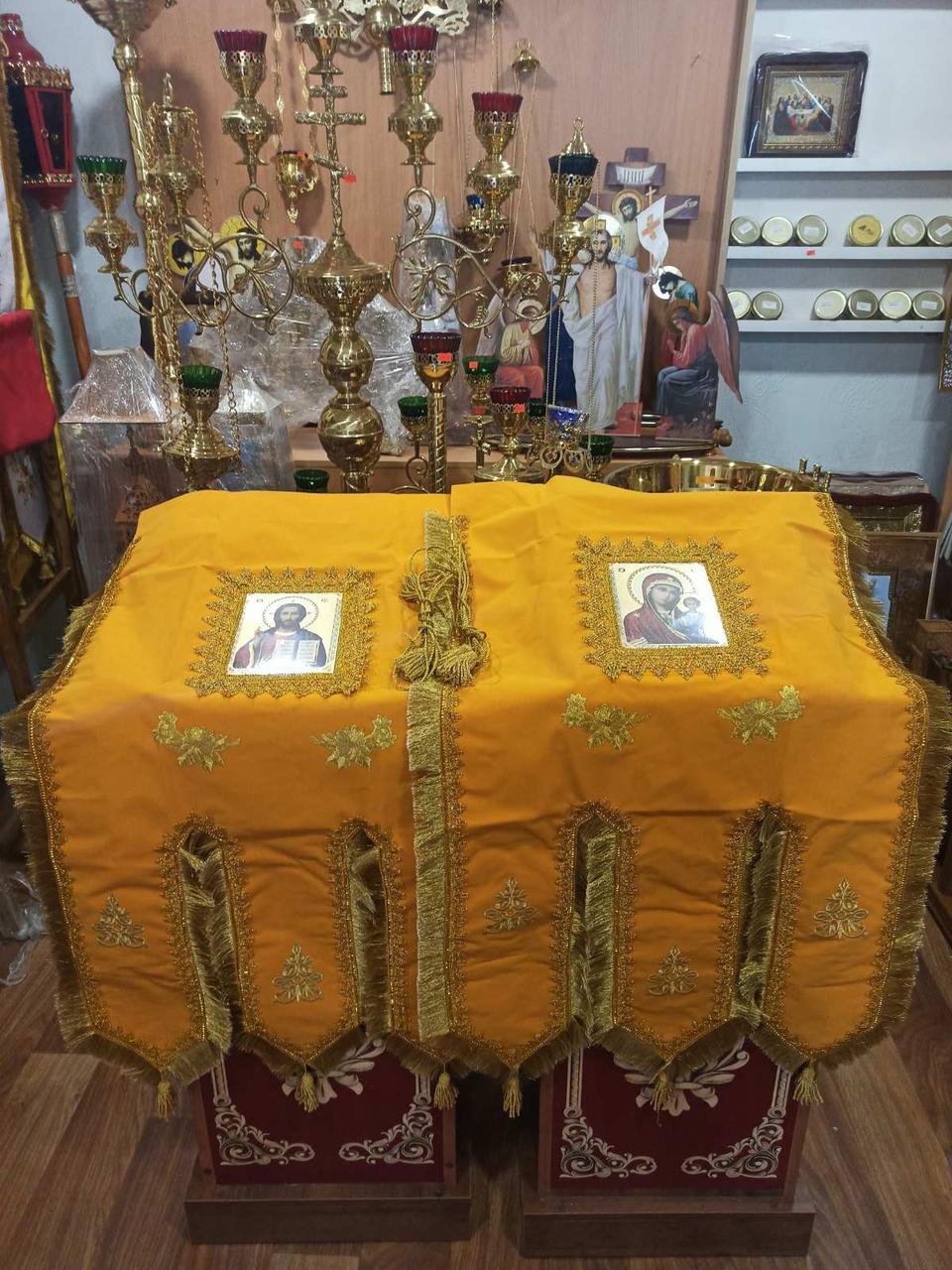 Хоругва замш. православна жовта для храму