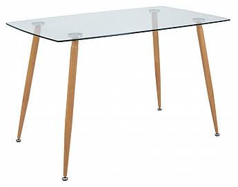 Обідній Стіл Richman Італі 1200 x 700 x 750H Імітація Деревини Скло Прозоре