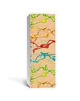 3Д наклейка на холодильник Краски Брызги (самоклеющаяся виниловая пленка ПВХ) Абстракция Бежевый 650*2000 мм, фото 1