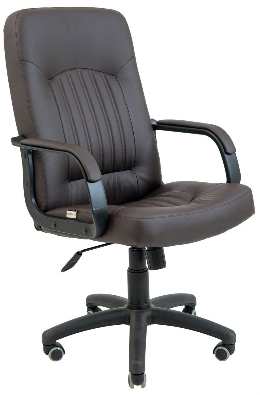 Офисное Кресло Руководителя Richman Фиджи Zeus Deluxe Brown Пластик Рич М2 AnyFix Коричневое