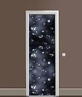 3Д наклейка на двері Чорні діаманти ПВХ вінілова плівка дорогоцінні камені Текстура 650*2000мм