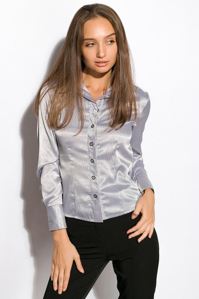 Классическая женская рубашка 118P098 (Серый)