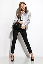 Классическая женская рубашка 118P098 (Серый), фото 2