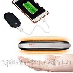 Грелка-павербанк (внешний аккумулятор с подогревом для рук) Pebble Hand Warmer PowerBank 5000 мАч S