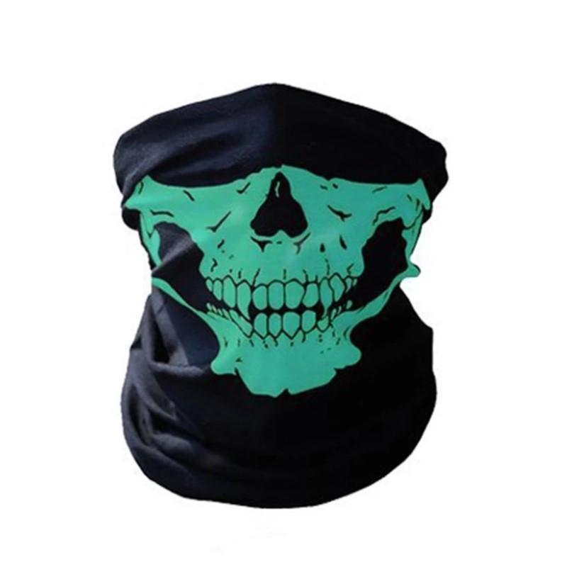 Бафф маска с рисунком черепа (Челюсть) Зеленая, Унисекс
