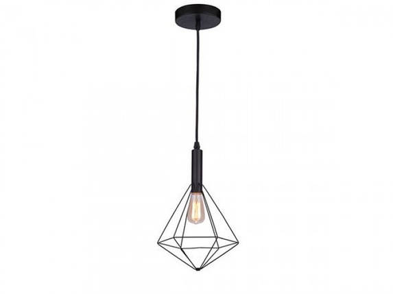 Подвесной светильник Azzardo Diamond 1 (MD5039-1B BK) AZ2139, фото 2