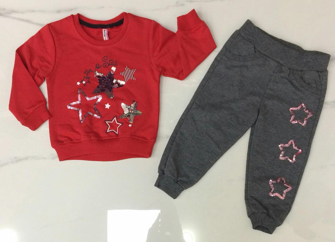 Дитячий костюм 1-4 роки для дівчаток оптом Туреччина
