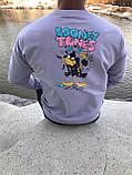 Мужской свитшот Looney Tunes M549 светло-фиолетовый, фото 3