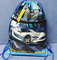 """Мішок для взуття 13768 """"Electro Car"""", +кишеня зі змійкою 43х31,5см, щільний 420D поліестер Kidis"""