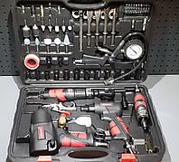 Набор пневмоинструмента 57 ед пневмотрещотка, пневмогайковерт,, пневмолоток, уд.головки, биты) AEROPRO RP7857
