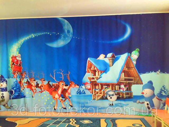 тканини для новорічних фото штор