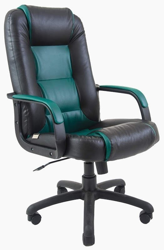 Офисное Кресло Руководителя Chelsea Zeus Deluxe ПлаStick Рич М1 Tilt Черно-зеленое